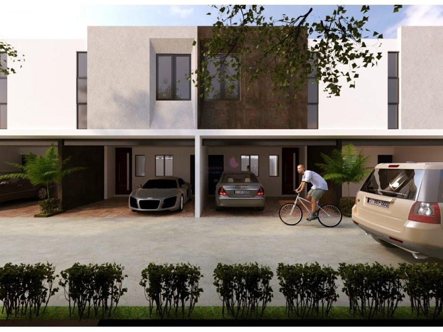 town house en pre venta en dzitya merida