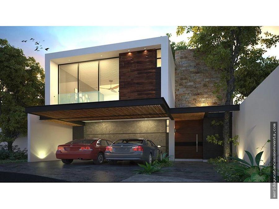 casa en venta en temozon norte en privada