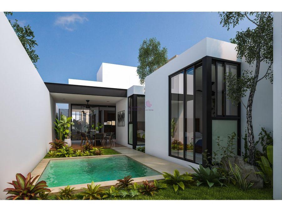 casa en venta en cholul de una planta