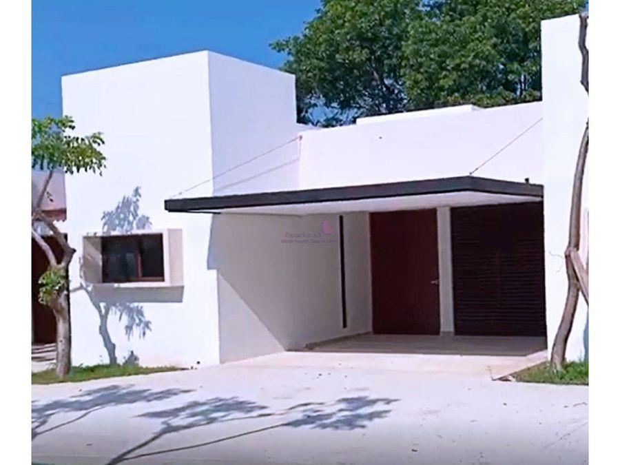 casa de un piso en venta en sata rita cholul
