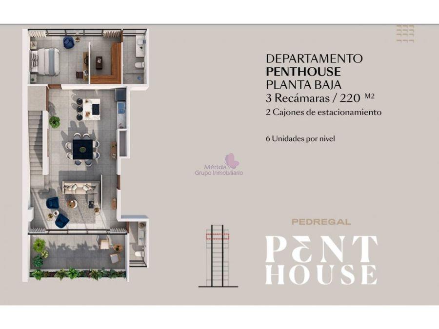 penthouse en altabrisa merida en venta monumento