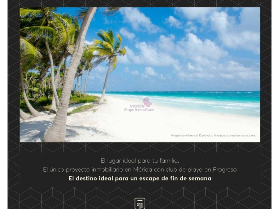 departamentos en merida con club playa progreso