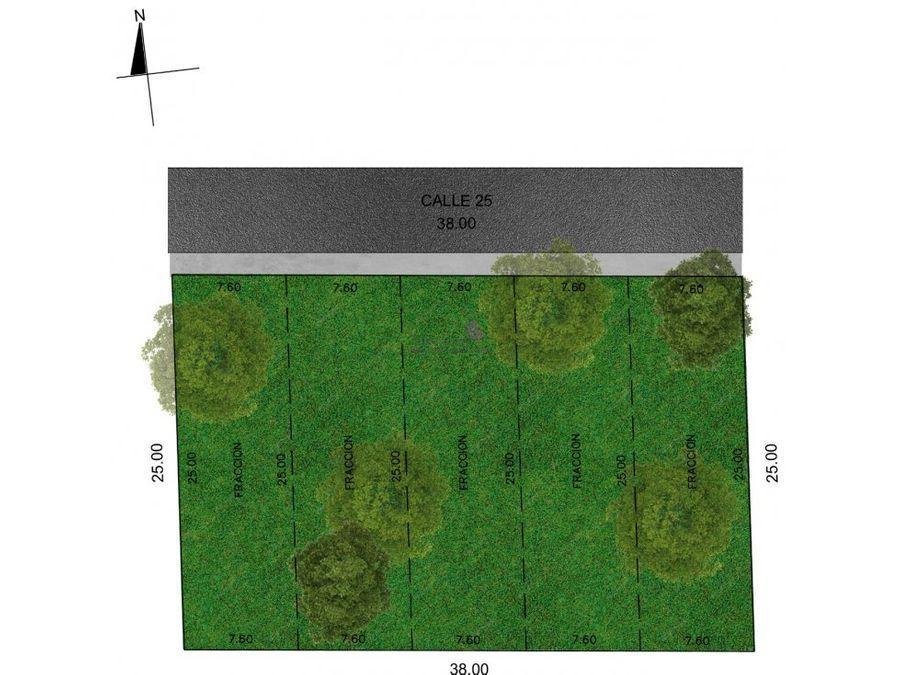 terrenos en venta en cholul merida de 190m2