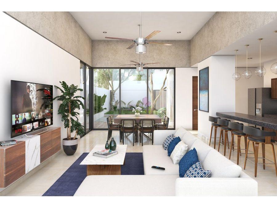 casa en venta en privada zelena conkal