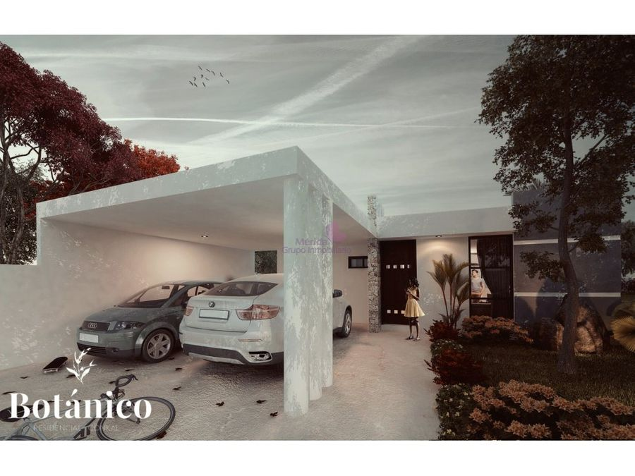casa de una planta en venta en merida conkal botanico