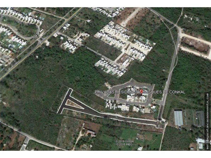 terreno residencial en conkal con financiamiento