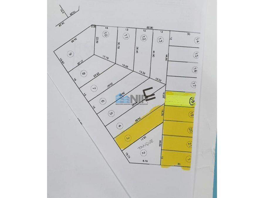 vendo 6 terrenos juntos que totalizan 2158 m2 en nemby