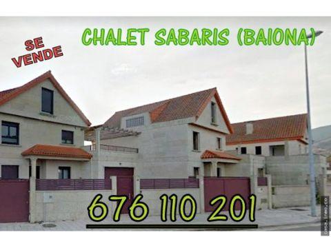 se vende casa chalet en baina zona sabaris