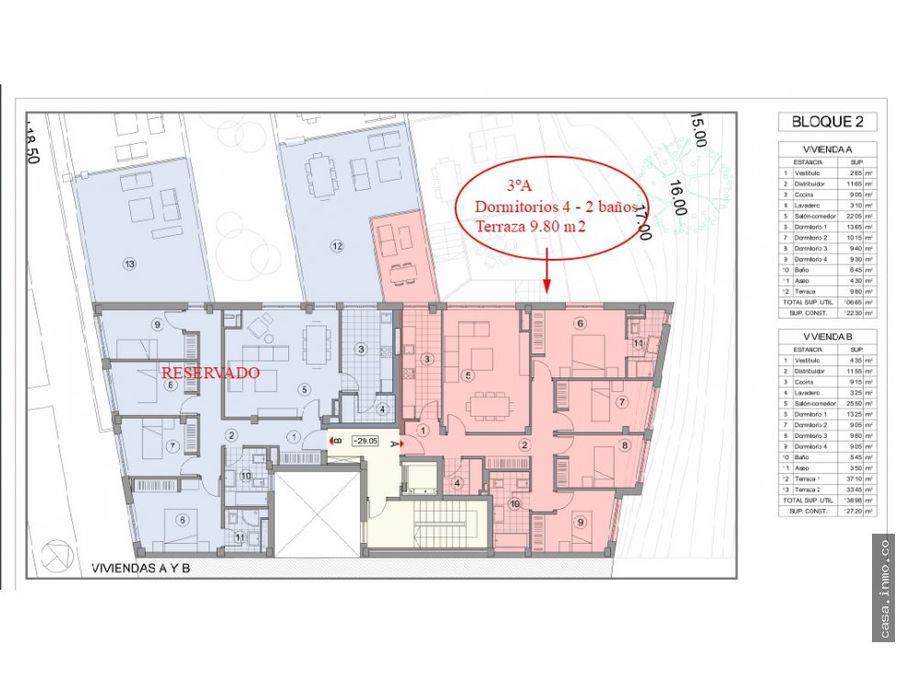 pisos obra nueva de 4 dormitorios con terraza