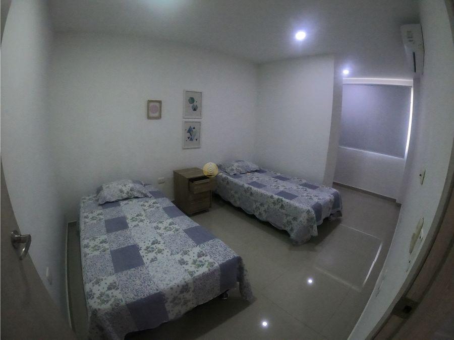 apartamento amoblado en arriendo en villa santos