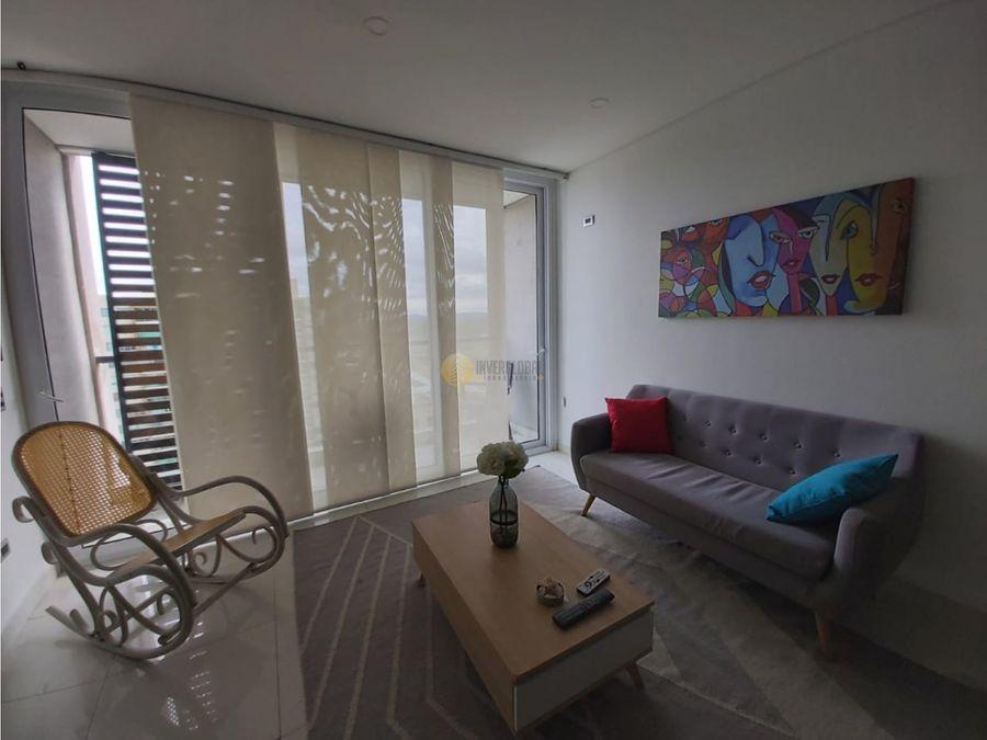 apartamento amoblado en villa santos