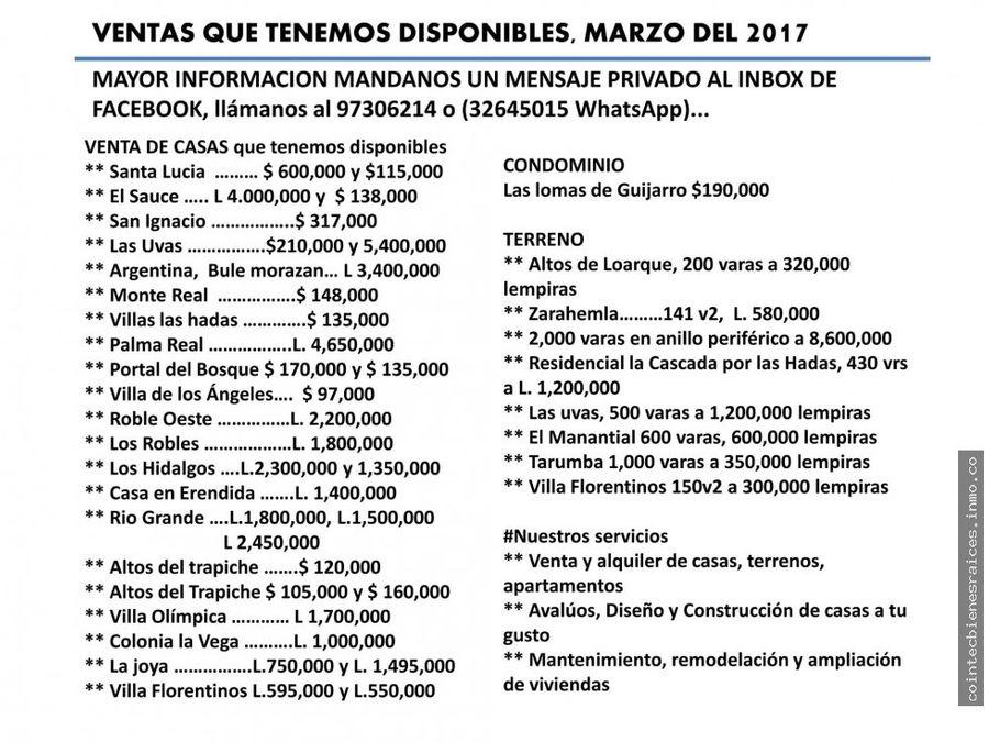 venta de casa residencial las uvas 210000