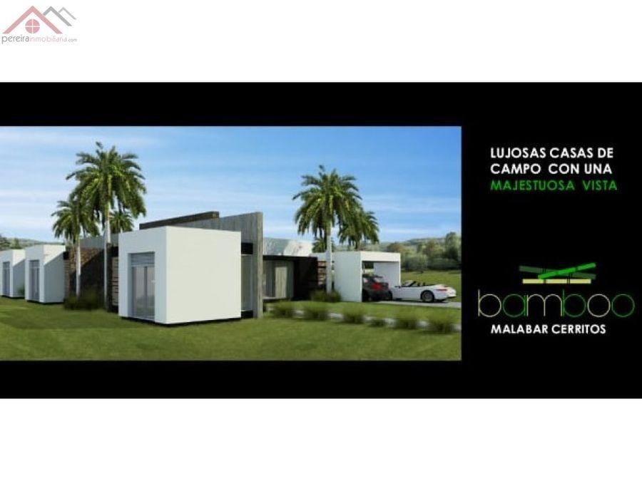 venta de casa de campo en proyecto bamboo malabar