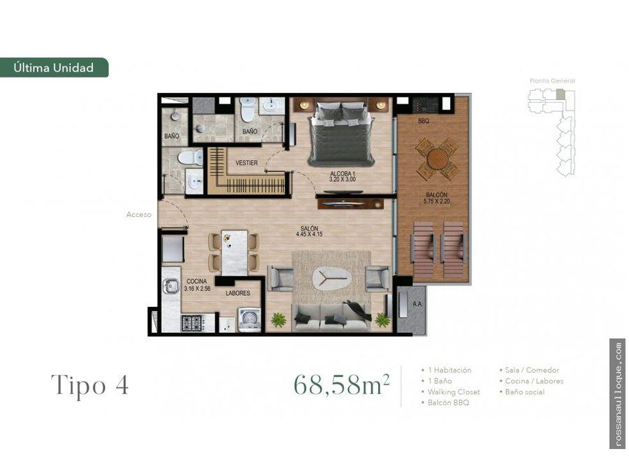 venta de apartamento en proyecto