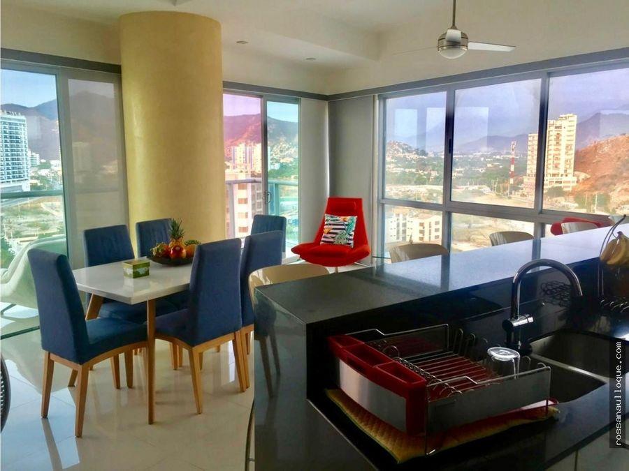 vendo espectacular apartamento en santa marta