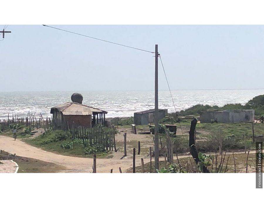 se vende lote frente a la playa