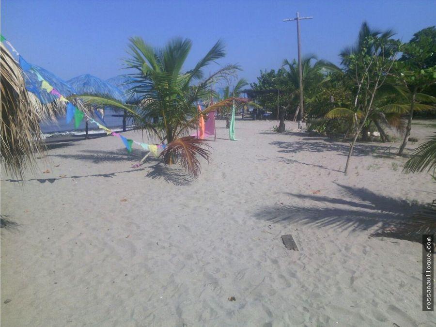 se vende finca con vista a la playa en tolu sucre