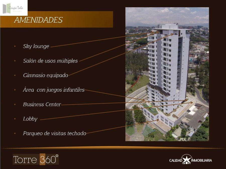 apartamento en venta en zona 15 edificio torre 360