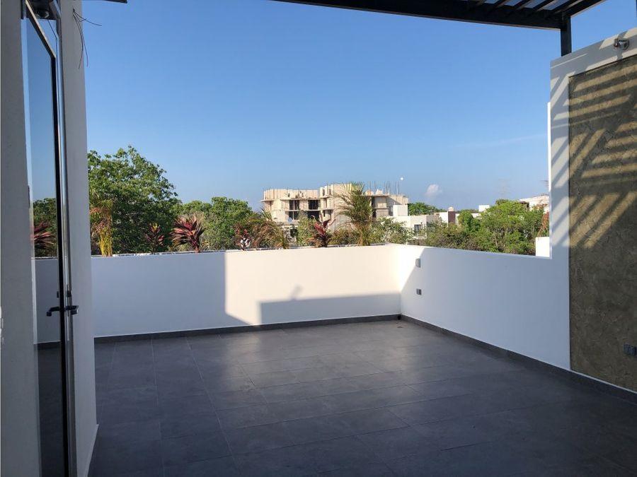 casa nueva 3 recamaras en playa del carmen