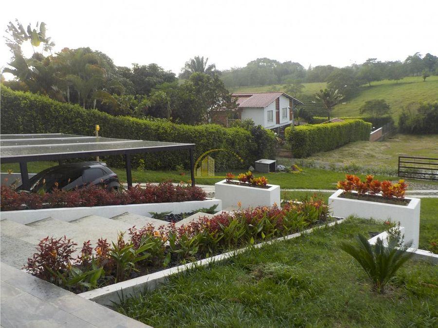 casa campestre en venta via al valle