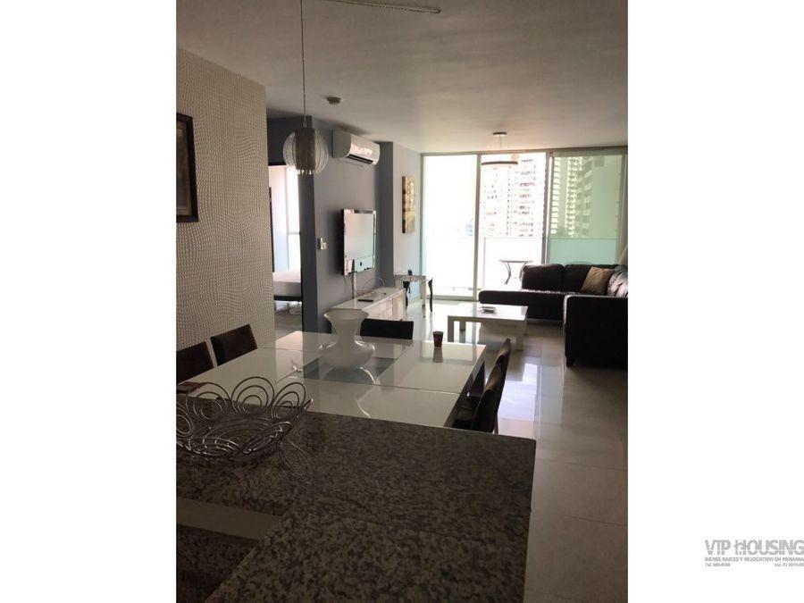 apartamento en punta pacifica amoblado 110 mts2
