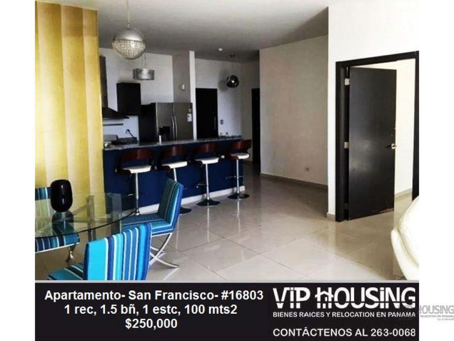 apartamento en san francisco 100 mts2