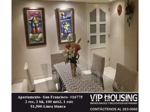 apartamento en san francisco 100 mts 16775