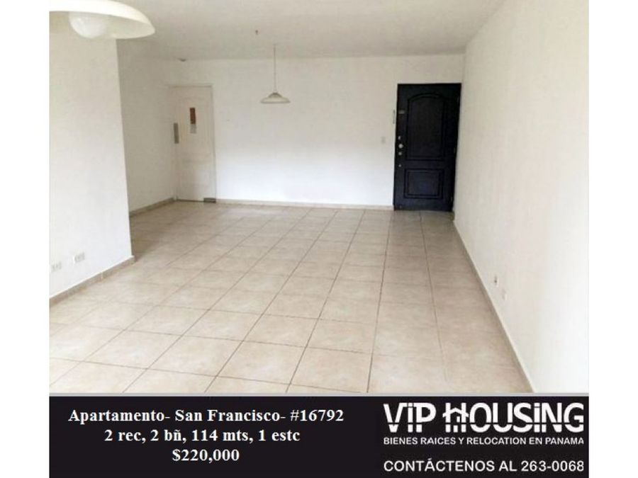 apartamento en san francisco 114 mts 16792