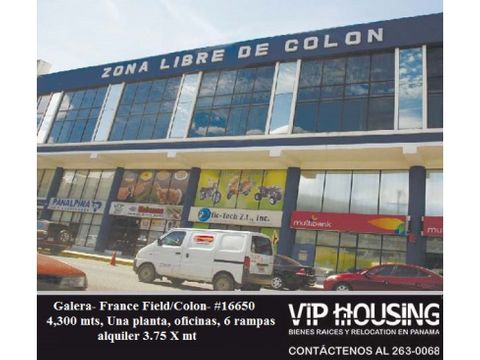 amplia galera en colon 4500 mts2 16650
