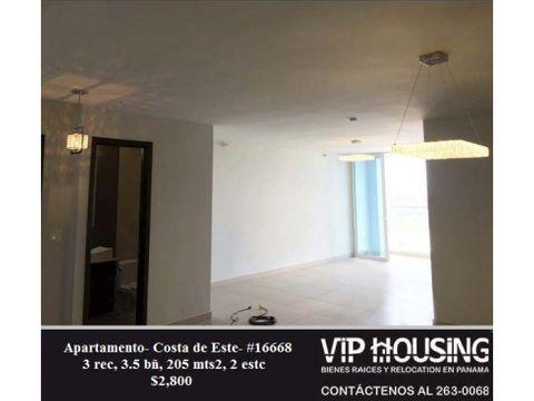 apartamento en costa del este 205 mts2 16668
