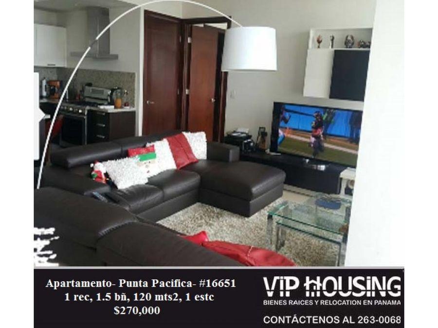 apartamento en punta pacifica 120 mts 16651