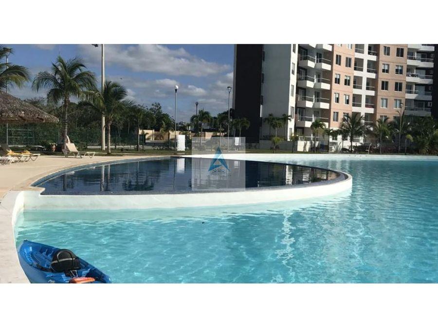 departamento en cancun con laguna
