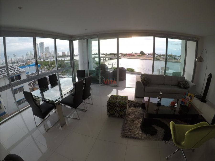 se vende apartamento en manga edificio vista