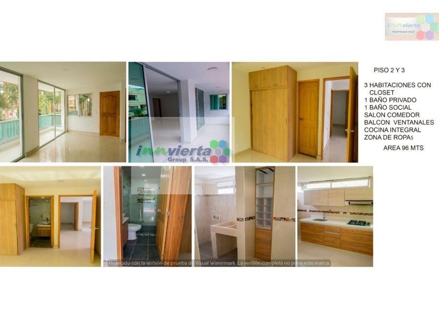 se vende apartamento 3 piso belen
