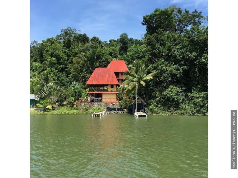 casa para vacacionar en renta en rio dulce