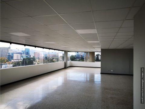 oficina de 270 mts2 en renta en zona 10