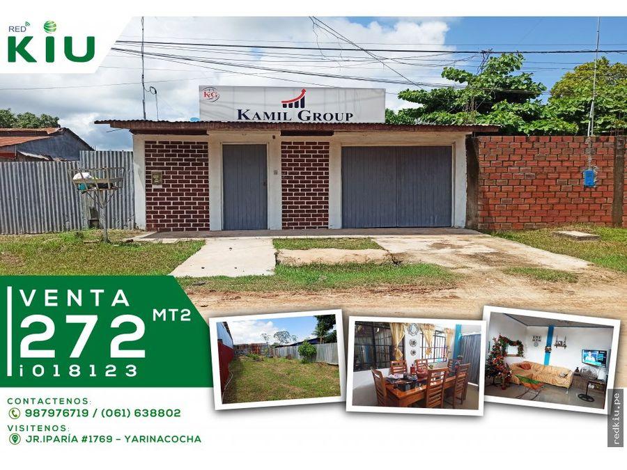 i018123 venta casa yarinacocha