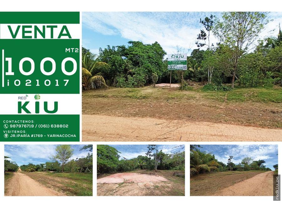 i021017 venta terreno yarinacocha