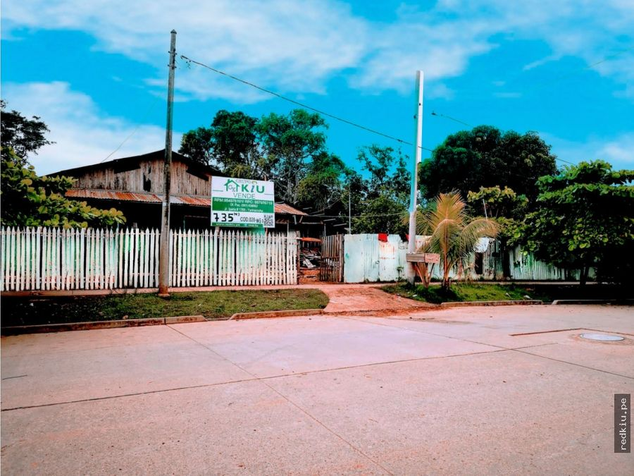 i020052 venta terreno zona residencial yarinacocha