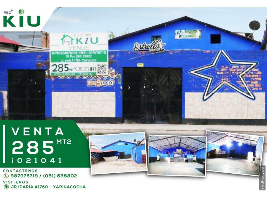 i021041 venta local comercial yarinacocha
