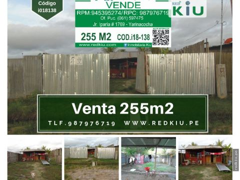 i018138 venta de terreno en yarina