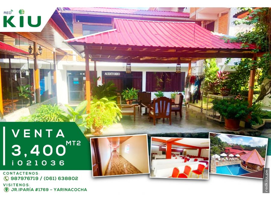 i021036 vende hotel turistico pucallpa