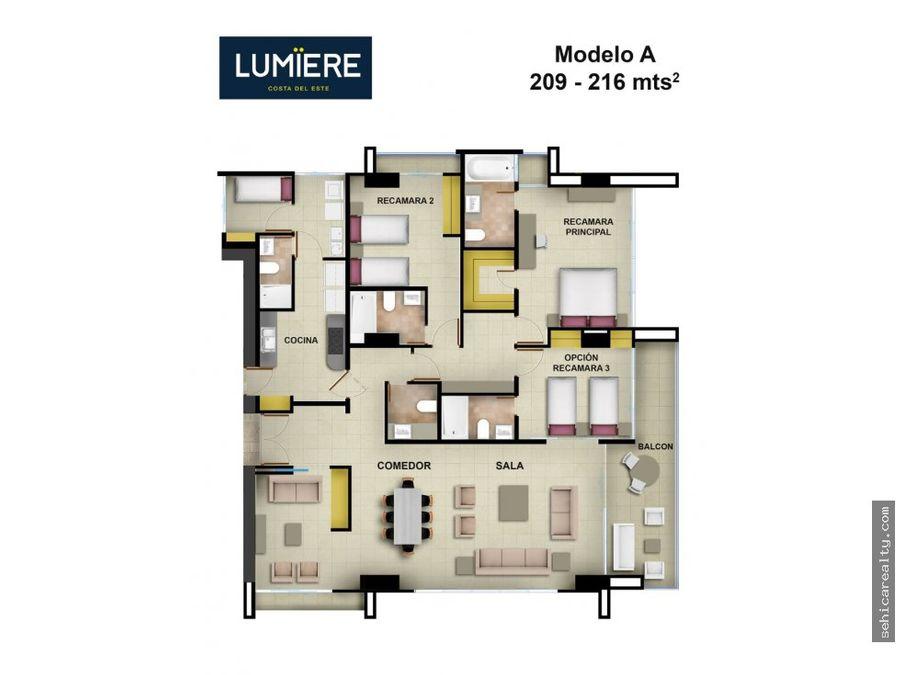 venta de apartamento en ph lumiere