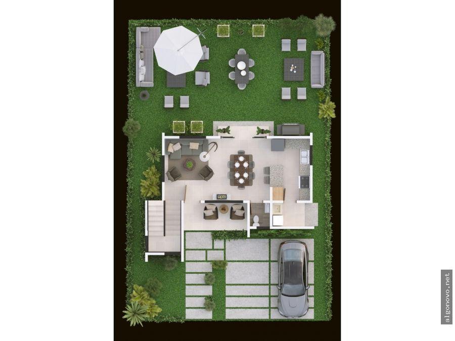 casas de 3 hab 2 niveles en bavaro residencial cerrado bavaro