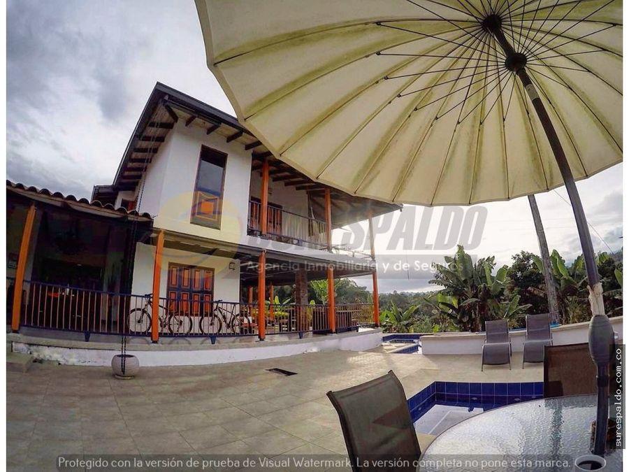 venta finca hotel via filandia quimbaya