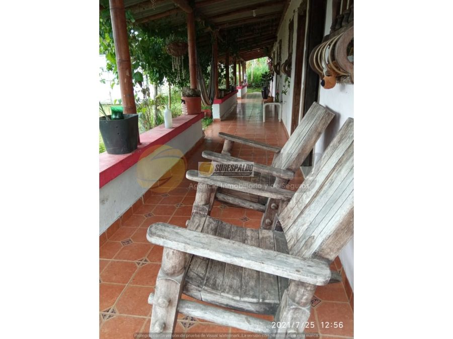 venta finca entre quimbaya y filandia