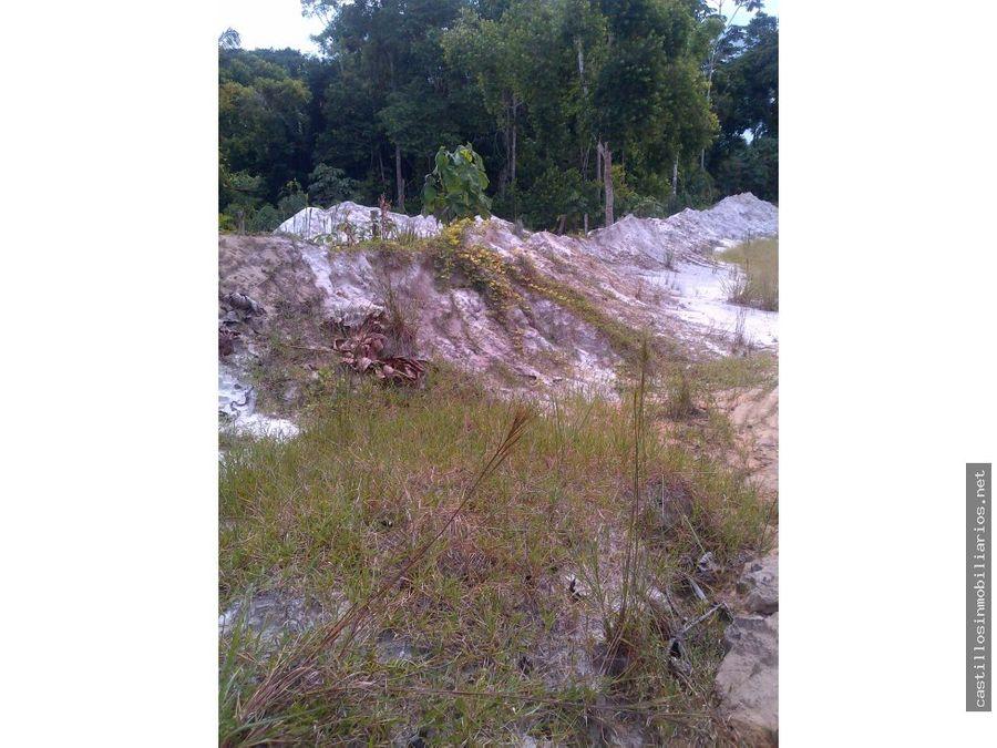 vendo fundo con yacimiento minero en yurimaguas loreto
