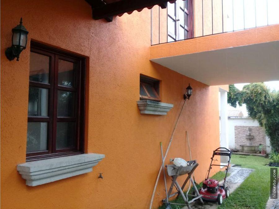 casa en renta en condominio en jocotenango