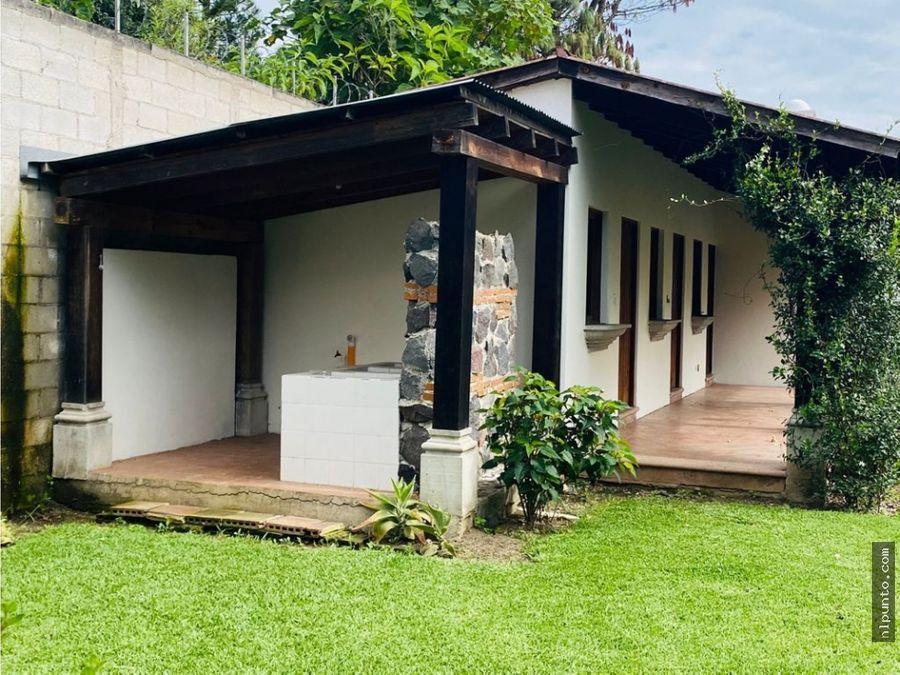 casa en renta en condominio cerca de panorama antigua guatemala