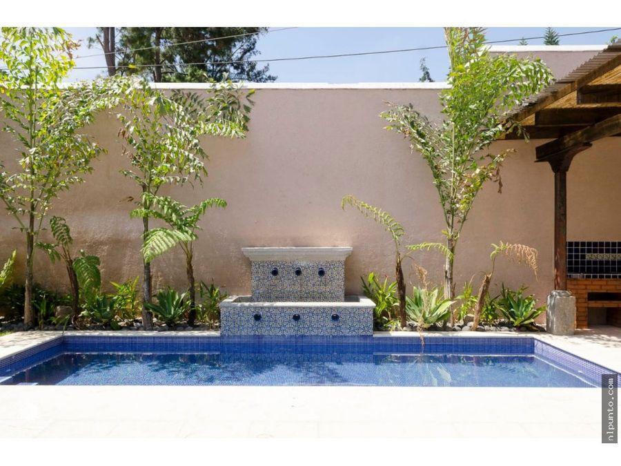 hermosa casa con piscina a la venta en antigua